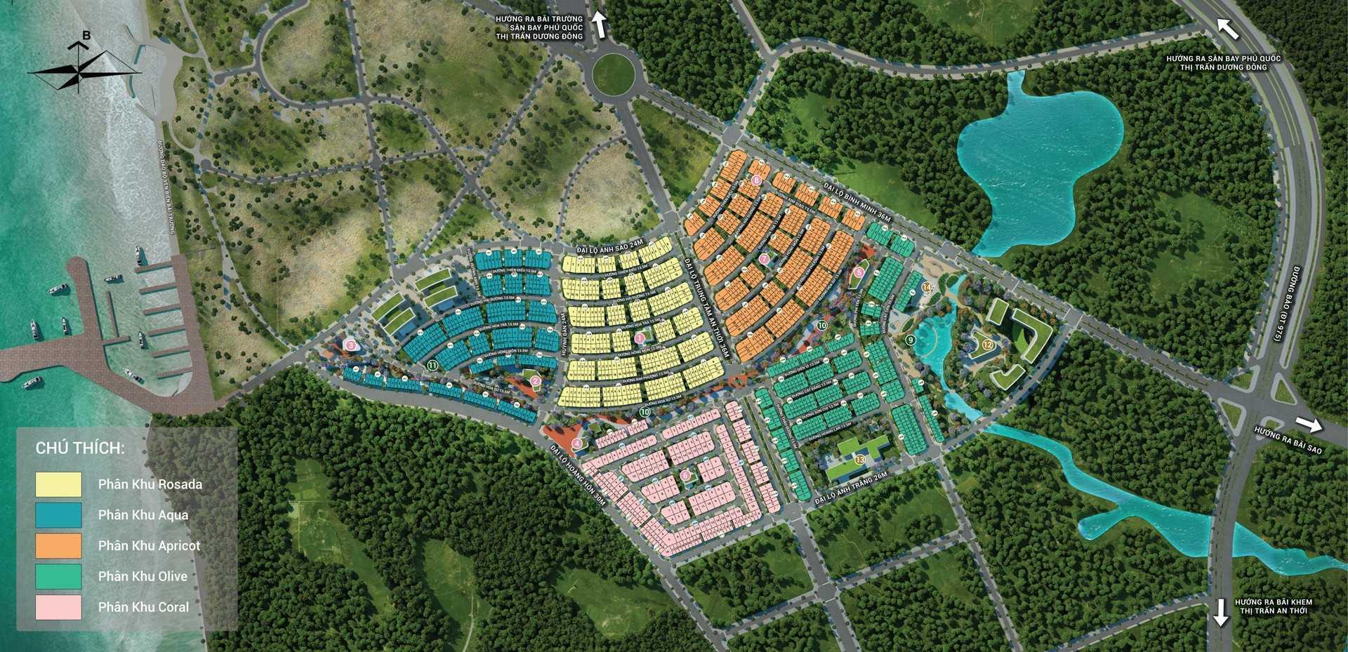 Mặt bằng tiện ích dự án MeyHomes Capital Phú Quốc
