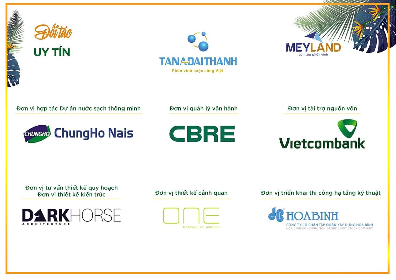Những thương hiệu danh tiếng đồng hành cùng MeyHomes Capital Phú Quốc.