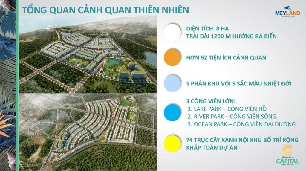 Tổng quan cảnh quan thiên nhiên - MeyHomes Capital Phu Quoc