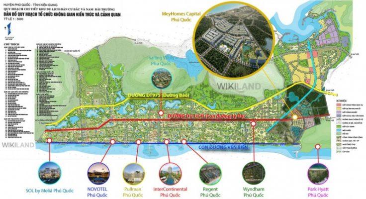Những con đường huyết mạch xuyên qua dự án Meyhomes Capital Phú Quốc